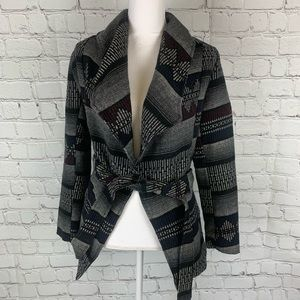 Charlotte Russe Jacket Wool Blend Diamond Medium
